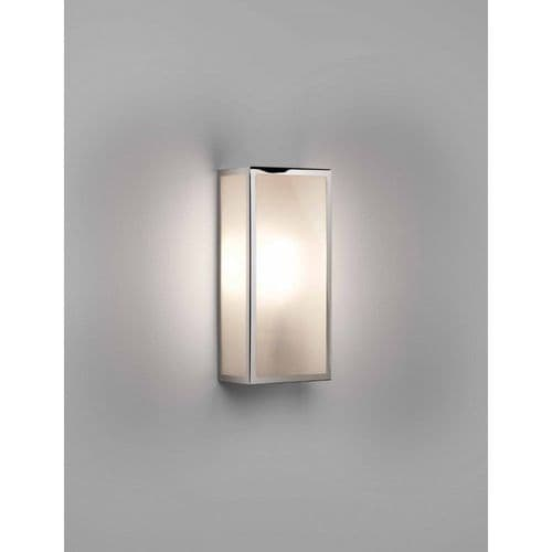 Astro 1183025 Messina 160 Frosted II Outdoor Wall Light Polished Nickel